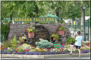 Niagara Falls KOA Entrance